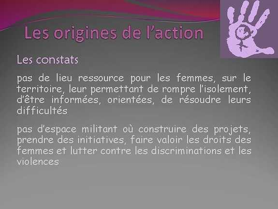 Les origines de l'action ...